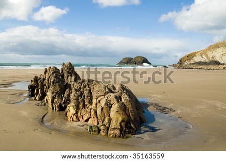 Marloes sands beach, Wales , UK on a sunny day