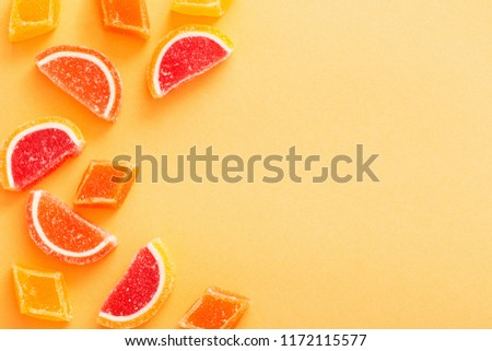 marmalade sweets on colored background #1172115577