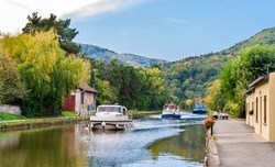 Marne - Rhine Canal in Vosges mountains, Alsase, France