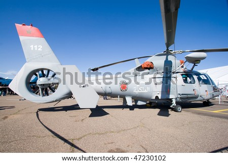 Photos Helicopteres de la MR - Page 2 Stock-photo-marrakech-morocco-january-moroccan-as-mb-panther-at-marrakech-air-expo-january-in-47230102