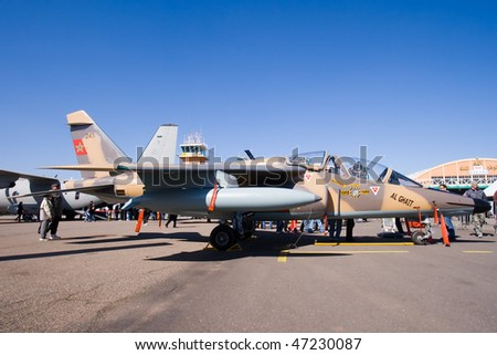 FRA: Photos avions d'entrainement et anti insurrection - Page 5 Stock-photo-marrakech-morocco-january-moroccan-dassault-alpha-jet-at-marrakech-air-expo-january-47230087