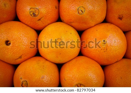 Marrakesh, Morocco: Close up of oranges in a market, Marrakesh, Morocco