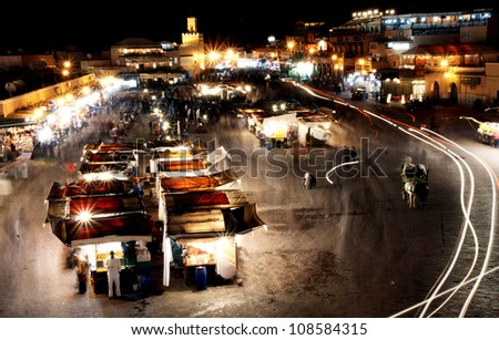 Marrakesh, the third biggest city in Morocco, famos for the Square.