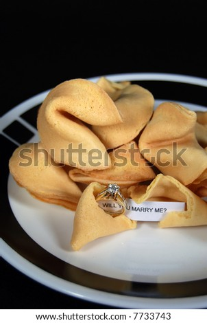 marriage proposal in fortune cookie