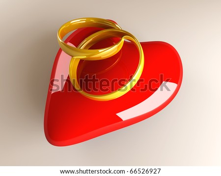 stock photo Marriage symbol