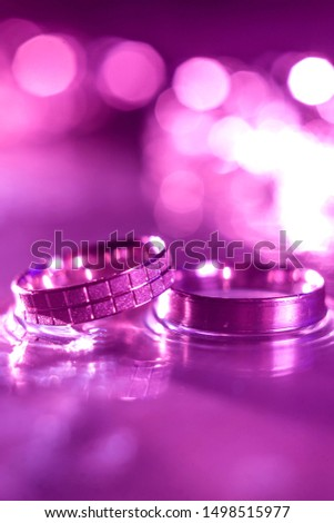 marriage wedding rings isolated with bokeh lights #1498515977