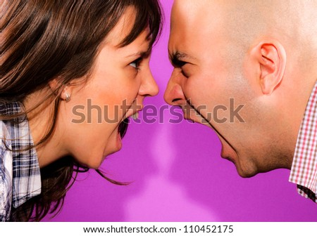 Married couple have conversation
