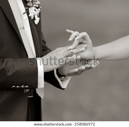 Marry me today and everyday. Wedding picture in black and white.