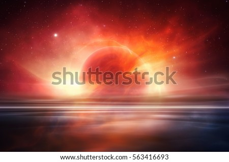 Mars desert like fantasy landscape