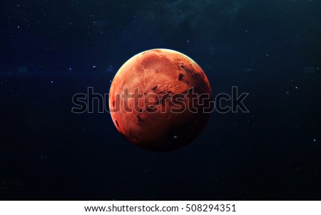Shutterstock Mars - High resolution beautiful art presents planet of the solar system. This image elements furnished by NASA