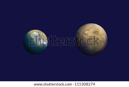 "Mars in the Past, future of the world. ""Elements of this image furnished by NASA """