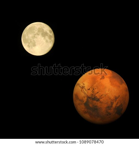 Stock Photo Mars - The Red Planet