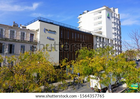 MARSEILLE, FRANCE -13 NOV 2019- View of the campus Saint-Charles of the Aix Marseille Universite university near the train station in Marseille, France. #1564357765