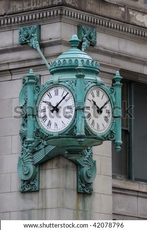 Marshall Field's Clock in Chicago