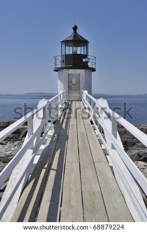 Marshall Point Lighthouse, Port Clyde, St. George Peninsula, Maine, USA