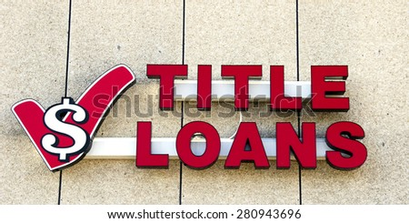 title loans sign