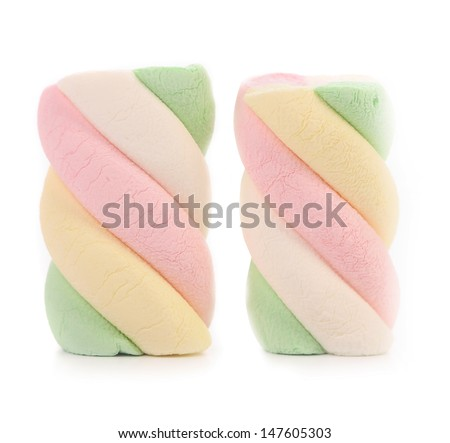 Marshmallows. Different color. Close up.