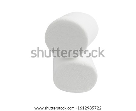 marshmallows isolate on a white background