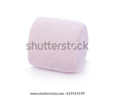 marshmallows on white background #619414199