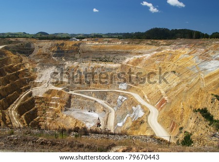 Martha mine, opencast gold mine, Waihi, New Zealand