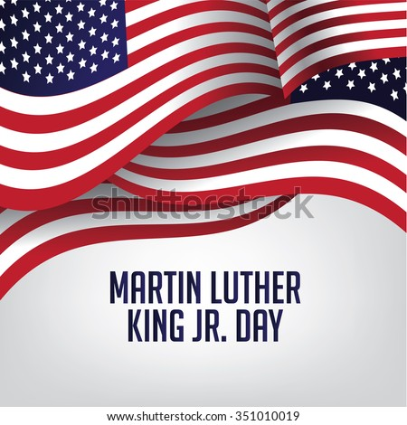 Martin Luther King Day American flag illustration