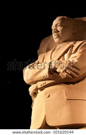 Martin Luther King Jr. Memorial Statue Venus and Stars Night Washington DC Sculptor is Lei Yixin