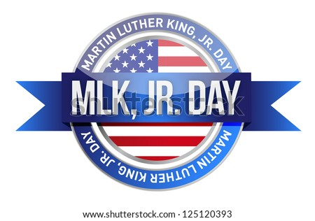 Martin Luther King Jr. us seal and banner illustration design