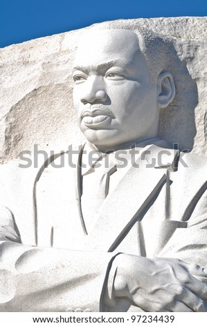 Martin Luther King Memorial in Washington DC - stock photo