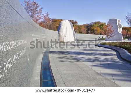 Martin Luther King Monument in Washington DC, USA