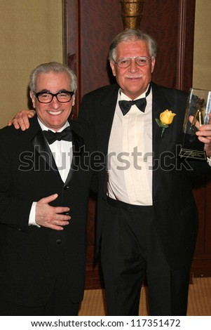 Martin Scorsese and Michael Ballhaus at the American Society of Cinematographers 21st Annual Outstanding Achievement Awards. Hyatt Regency Century Plaza Hotel, Century City, CA. 02-18-07 - stock photo