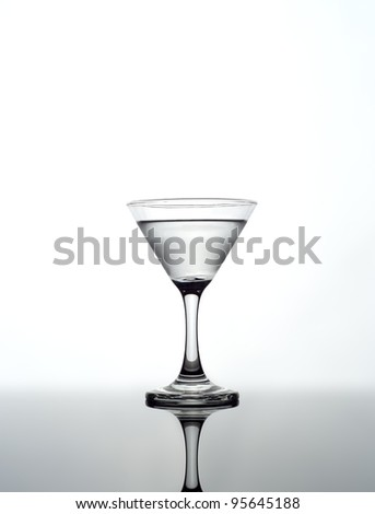 Martini glass on white background