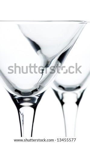 Martini glasses close up