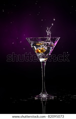martini over dark background #82095073