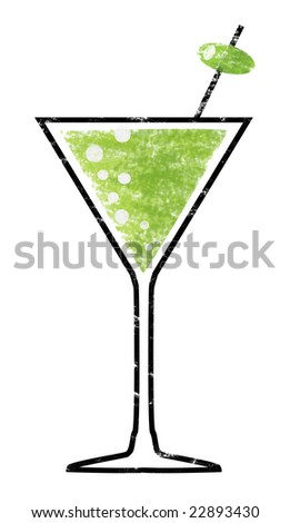 Martini Shot - stock photo