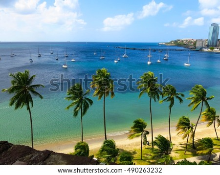 Martinique and wind