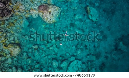 Martinique island in the Caribbean Sea from above #748653199