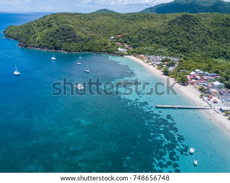 Martinique island in the Caribbean Sea from above