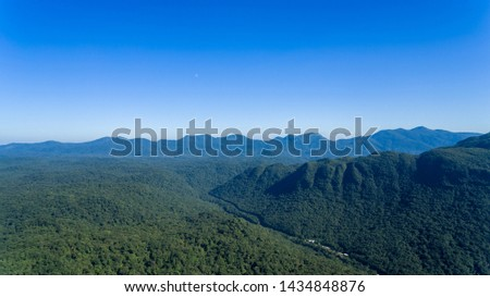 Marumbi in the mountain range of the Paraná Sea in Brazil, mountain range in which the Olimpo peak (1,539 meters), Boa Vista (1,491 meters), Giant (1,487 meters), Ponta do Tigre (1,400 meters) etc