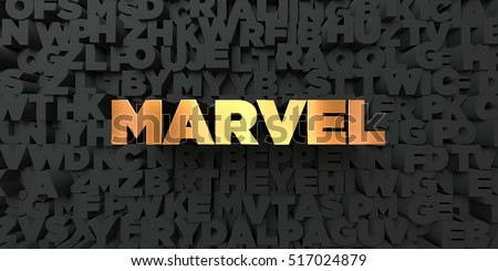 stock photo marvel gold text on black background d rendered royalty free stock picture this image can be 517024879 - Каталог — Фотообои «Для детской»