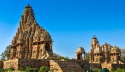 Marvelous architecture details of ancient Khajuraho temple