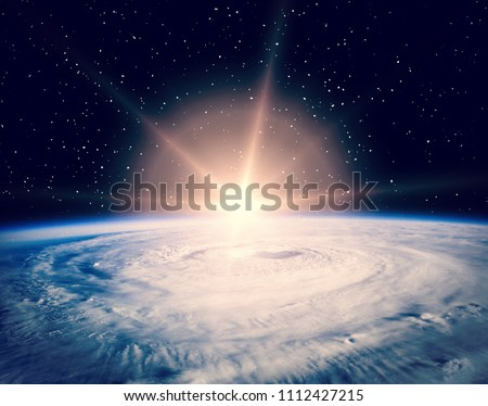 Marvelous sunrise. The elements of this image furnished by NASA.