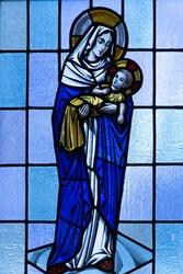 Mary and baby Jesus, St Matthew's Episcopal Church, Latham NY