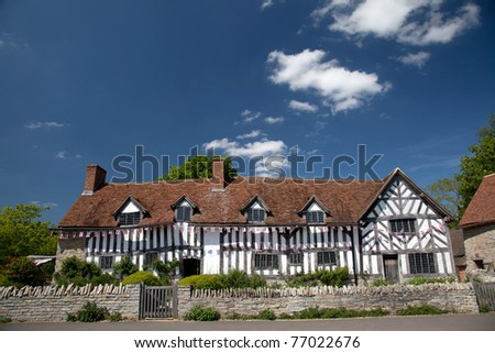 Mary Arden's Farm and house where William Shakespeare's mother grew up England UK