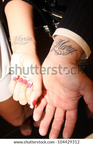 Mary Carey and Mario Monge at the wedding ceremony of Mary Carey and Mario Monge. Heavenly Bliss Wedding Chapel, Las Vegas, NV. 07-12-09 Courtesy of