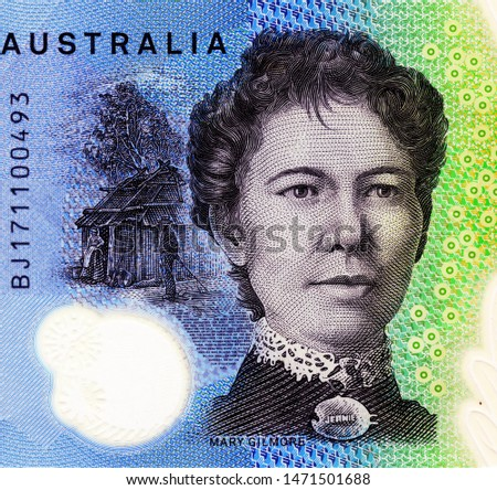 Mary Gilmore, poet and author, featured on the 10 dollar Australian bank note #1471501688