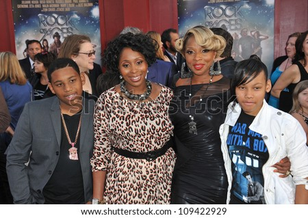 "Mary J. Blige & family at the world premiere of her new movie ""Rock of Ages"" at Grauman's Chinese Theatre, Hollywood. June 9, 2012  Los Angeles, CA Picture: Paul Smith / Featureflash"