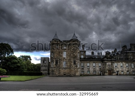 Mary Stewart palace in Edinburgh - tourists attraction - stock photo