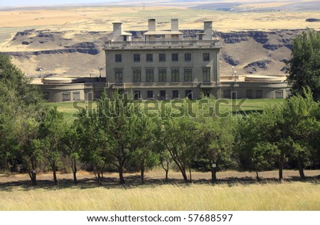 Maryhill museum of art building on the Columbia River Gorge Washington state.