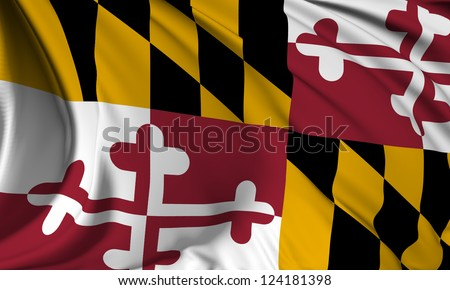 Maryland flag - USA state flags collection no_3