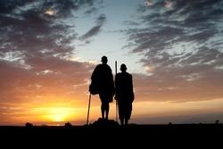 Masai and sunset